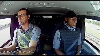 Dashcam footage of cash van crew under attack from CIT robbers