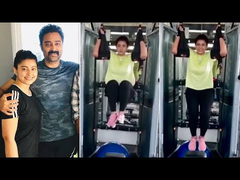 Tollywood actress Sneha's recent workout video