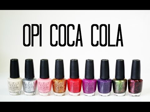 Review and Swatches: OPI Coca-Cola Collection