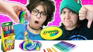 Cash or Trash? Crayola Acrylic Pour Kit! Testing 4 Crayola Craft Kits from ToysRus