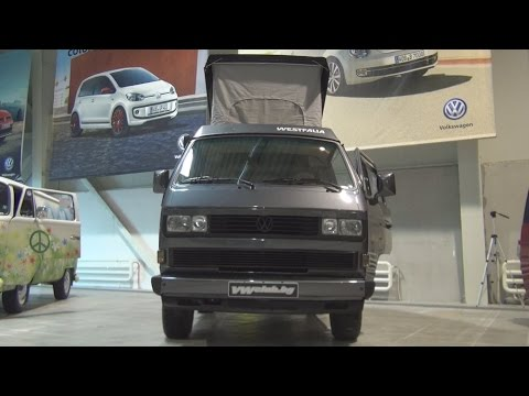 Volkswagen Transporter T3 Westfalia Dark Grey (1987) Exterior and Interior in 3D