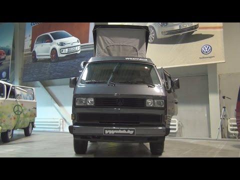 Volkswagen Transporter T3 Westfalia Dark Grey (1987) Exterior and Interior in 3D