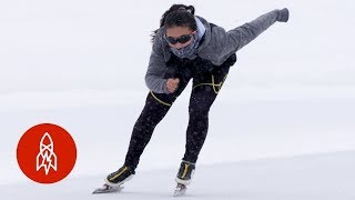 Racing With an Olympic Speed Skater