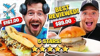 Eating At The BEST Reviewed AIRPORT Restaurant!! (Over 5 Star Rated Food) FT ITSYEBOI