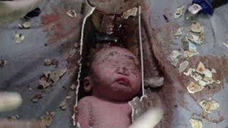 Giải cứu bé sơ sinh TQ kẹt trong đường ống nước thải