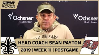 Sean Payton Postgame Reactions After Week 11 Win vs Bucs | New Orleans Saints Football