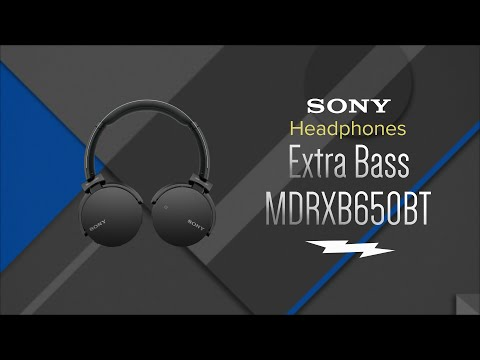 Sony Over-Ear Extra Bass Bluetooth Headphones MDR-XB650BT/B - Overview