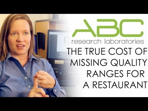 The true cost of missing quality ranges for a restaurant