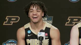 Purdue press conference after thrilling Sweet 16 win over Tennessee