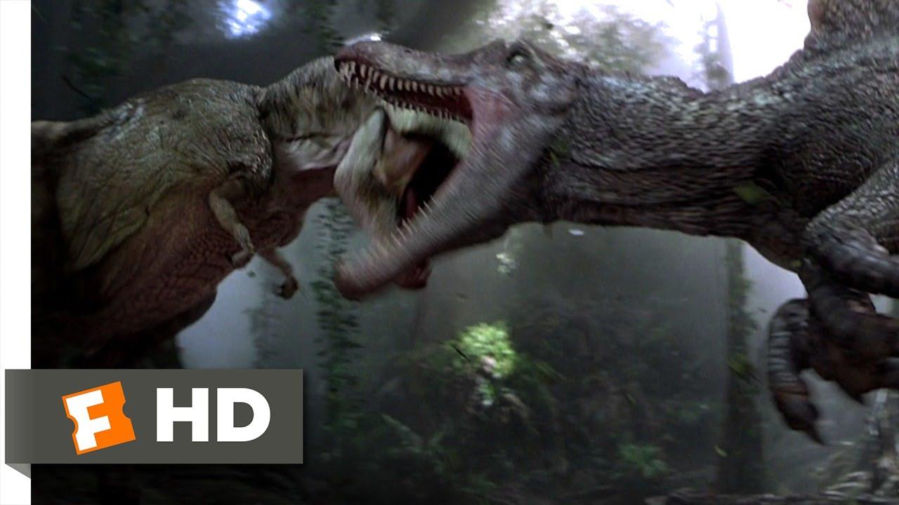 Jurassic Park 3 (3/10) Movie CLIP - Spinosaurus vs. T-Rex ...
