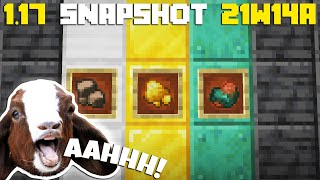 Minecraft 1.17 Snapshot 21w14a :: Capre care Țipă & Raw Gold, Iron & Copper!