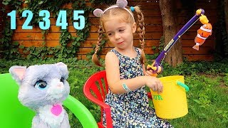 Numbers Song 12345 Once I Caught a Fish Alive! Nursery Rhymes for Kids Toddlers Baby