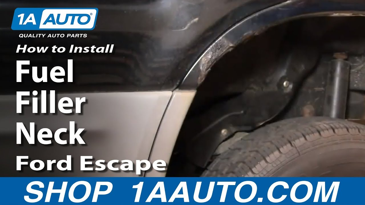 How To Install Replace Fuel Filler Neck Ford Escape 02 03
