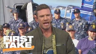 Nate Boyer on suggesting Colin Kaepernick kneel instead of sit during anthem | First Take | ESPN