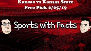 Kansas vs Kansas State | NCAA Basketball Free Pick | 2/25/2019