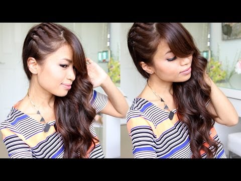 Twisted Side Swept Hairstyle feat. NuMe Lustrum Curling Wand - Bebexo  - M8_hPaHva-g -