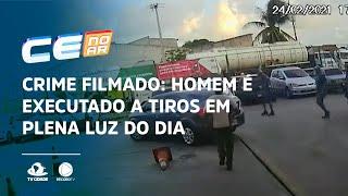 Crime filmado: Homem é executado a tiros em plena luz do dia