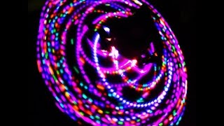 Dubstep  LED Hula Hooping Video-Cute  Hoop dance Video!