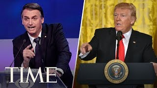 President Trump & Brazilian President Bolsonaro Hold A Joint Press Conference | TIME