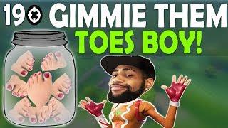 TAC SHOTGUN IN SPRAY META | GIMMIE THEM TOES BOY! - (Fortnite Battle Royale)