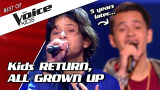 TOP 10 | SHOCKING RETURNS of kids as ADULTS in The Voice
