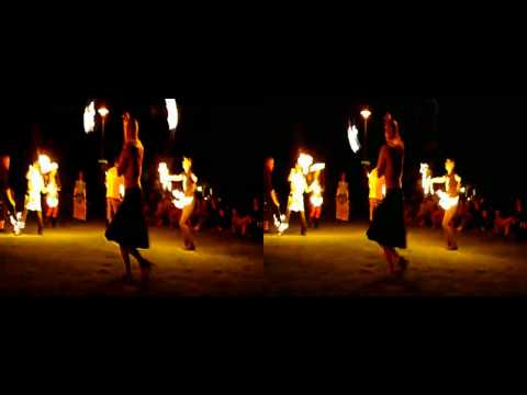 Fire Dancers In 3D