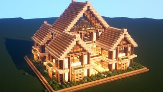 Easy Minecraft: Large Oak House Tutorial - How to Build a Survival House in Minecraft #37