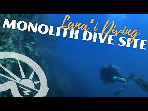 """Monolith"" dive site off Lanai with Extended Horizons Scuba, Maui, Hawaii"