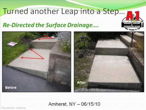 A-1 Concrete Leveling turns a leap back into a step.....