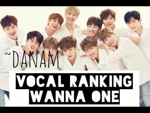 Vocal Ranking - Wanna One 2017