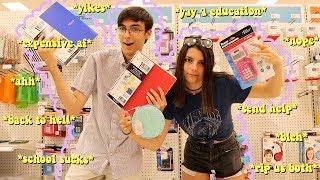 school supplies shopping vlog & haul *college vs. high school*