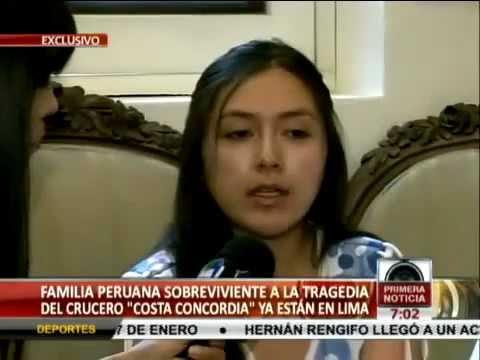 Peruanos Adventistas sobrevivientes del Crucero Costa Concordia dan un testimonio de Esperanza