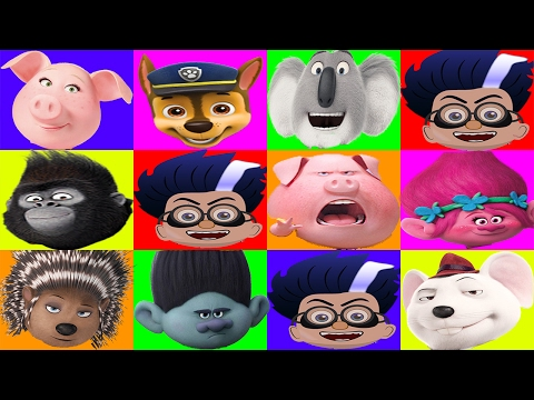 PJ Masks Romeo Plays The Sing Movie Surprise Egg Game - Trolls, Paw Patrol, Peppa Pig