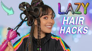 DIY Hair Hacks Every LAZY PERSON Should Know! Quick & Easy Hairstyles for School!
