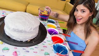 I Tried Edible FLUID ART On A Cake