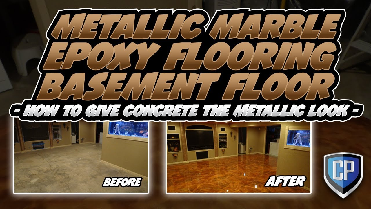 Metallic Marble Epoxy Flooring Basement Floor How To