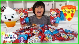 Ryan Surprise Toys Opening Challenge with Toy Jellies