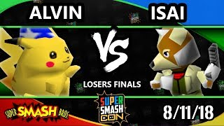 SSC 2018 SSB - CLN | Alvin (Pikachu) Vs. Isai (Fox) - Smash 64 Losers Finals