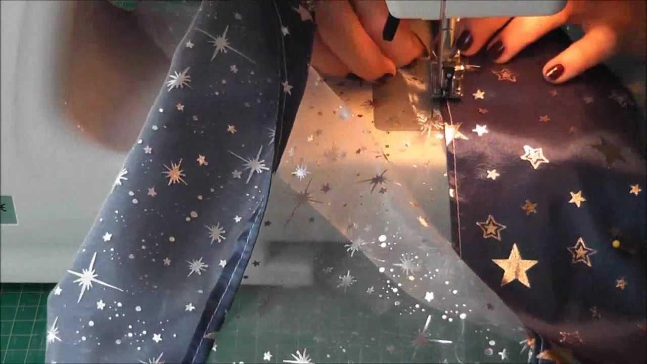 weihnachtsdekoration kleine gardine aus organza und dekostoff n hen youtube