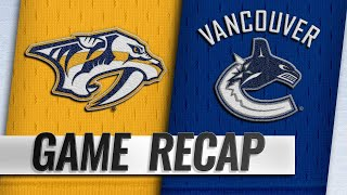 Pettersson, Horvat lead Canucks past Predators