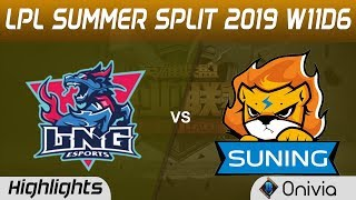 LNG vs SN Highlights Game 1 LPL Summer 2019 W11D6 LNG Gaming vs Suning LPL Highlights by Onivia