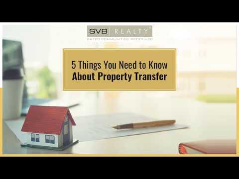 5 Things to Know About Property Transfer