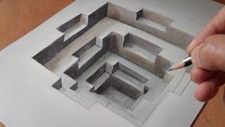Как рисовать 3D дыру – трюки рисования