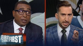 Nick Wright reacts to Brees' injury, refs make another controversial call | NFL | FIRST THINGS FIRST