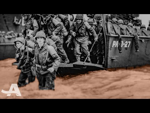 Landing on Omaha Beach | D-Day Narrated by Bryan Cranston