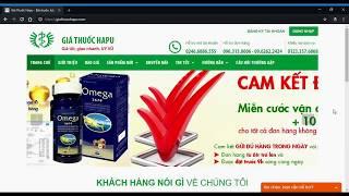 Hướng dẫn đặt hàng trực tuyến trên website giathuochapu.com