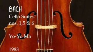 Bach Cello Suites nos 1,5 & 6 Yo Yo Ma 1983
