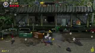 Lego Jurassic World: Level 11 Landing Site FREE PLAY (All Collectibles) - HTG