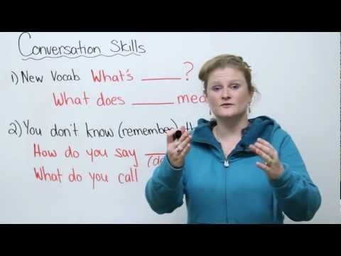 Conversation Skills - Learn new words and keep a conversation going!