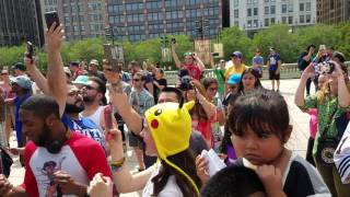 Chicago sings Pokemon Theme Song in perfect harmony!